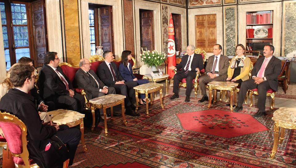 رئيس مجلس نواب الشعب يستقبل وفدا من المجموعة البرلمانية للحزب الشعبي الأوروبي بالبرلمان الأوروبي