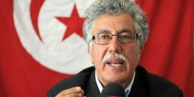 حمة الهمامي: حركة النهضة مورطة في شبكات التسفير ..ومشروع الخلافة السادسة كان سيعصف بالمنطقة