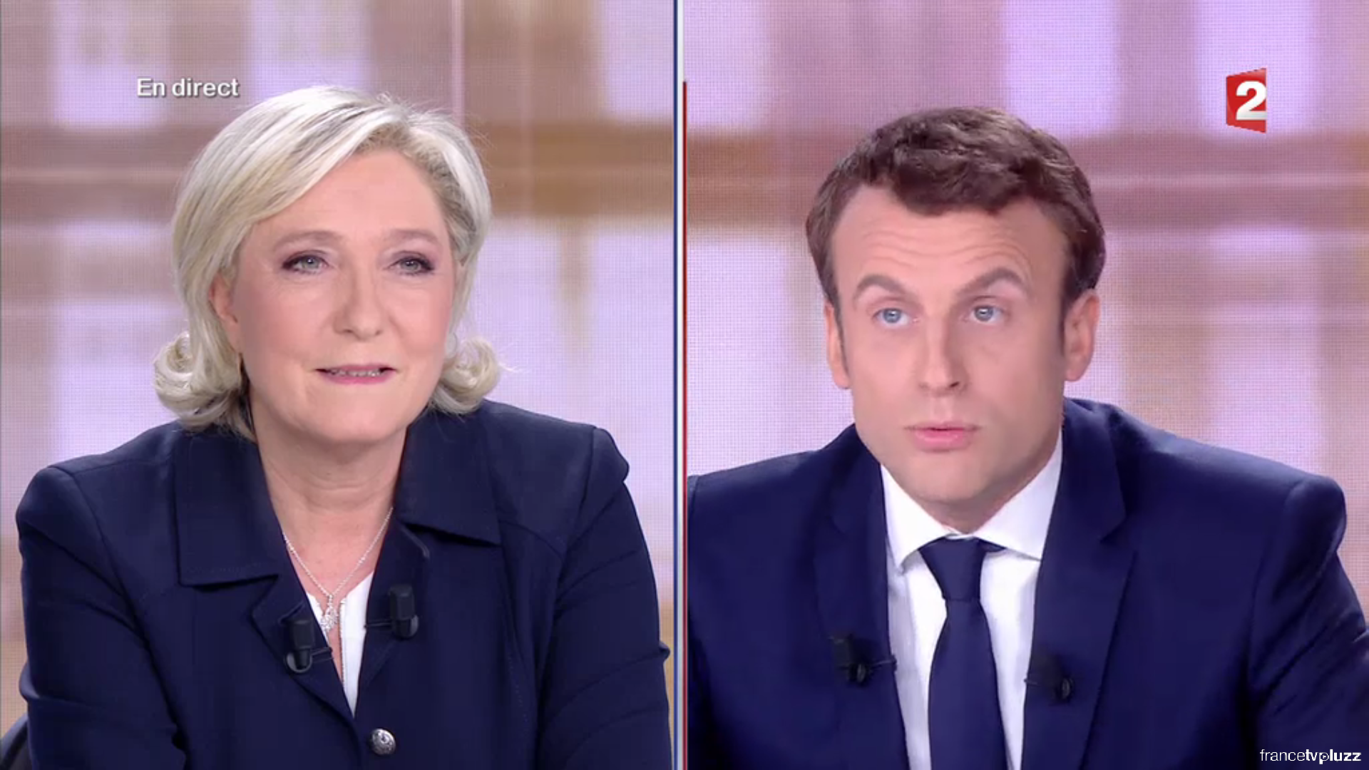 في مناظرة تلفزية: حرب كلامية حادة بين مرشحي الرئاسة الفرنسية ماكرون ولوبان