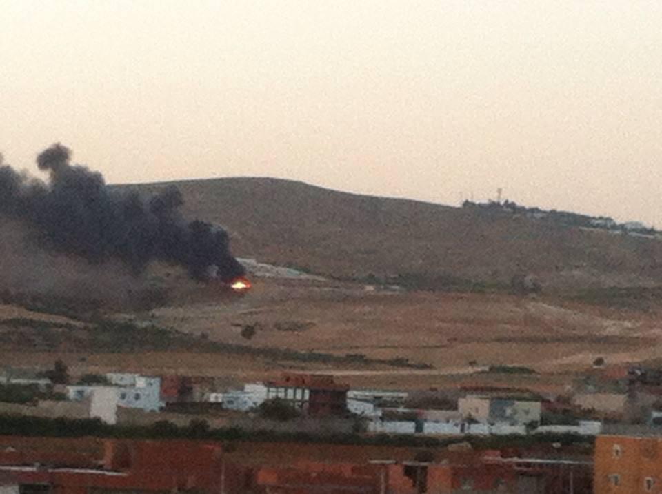 عاجل: حريق ضخم في جبل عمار...والنيران تقترب من احدى الثكنات العسكرية