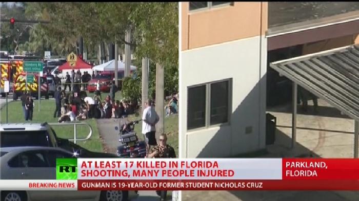أمريكا: مقتل 17 شخصا في حادث اطلاق نار بمدرسة