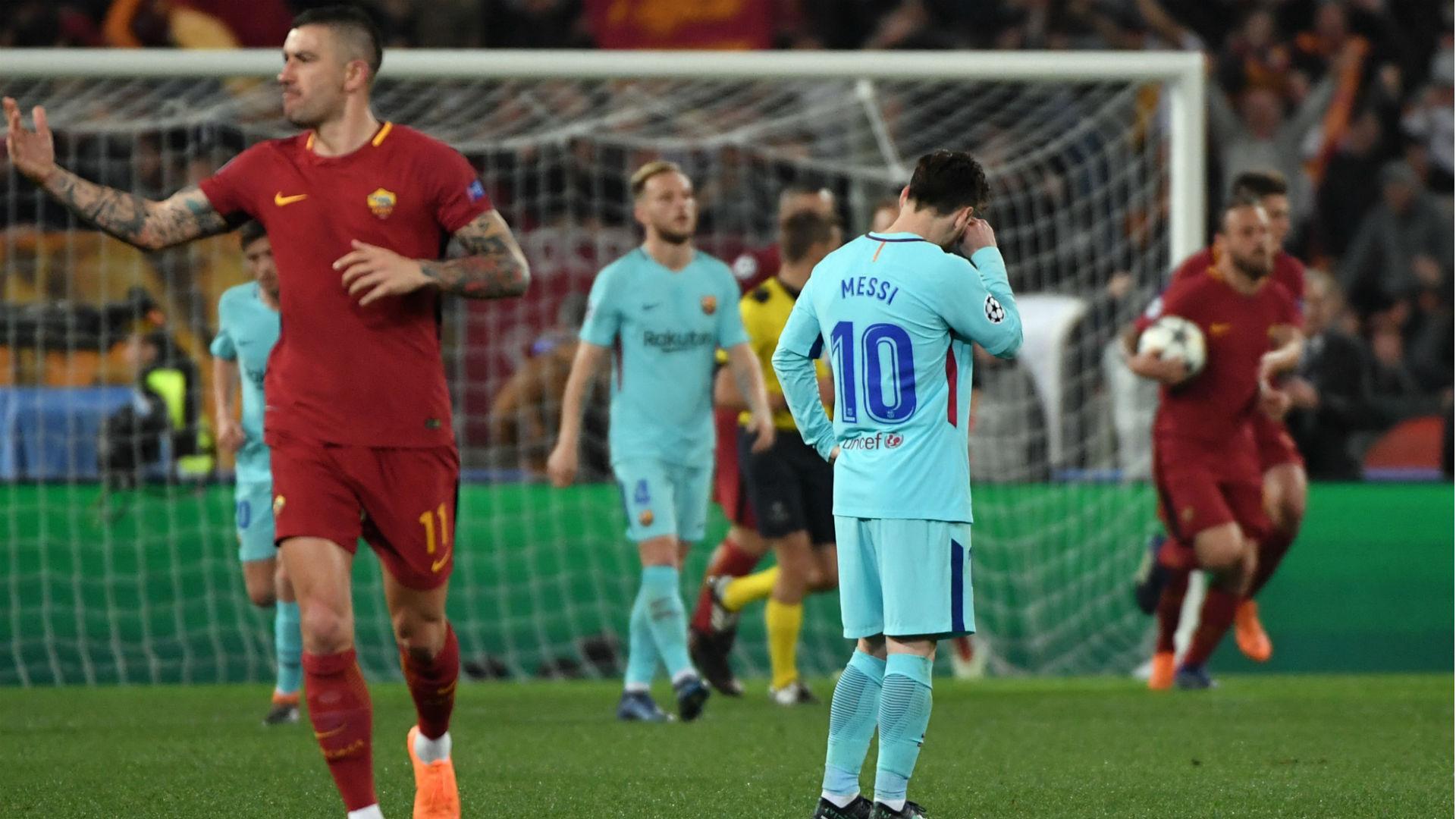 في مفاجئة مدوية: روما يقصي برشلونة من ربع نهائي رابطة الأبطال الأروبية