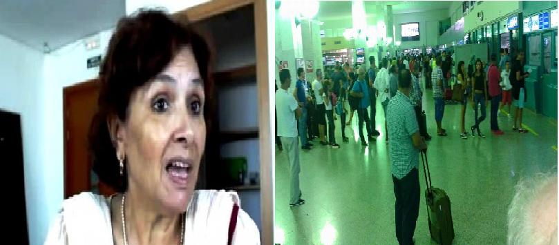 مطار تونس قرطاج : منع سهام بن سدرين من السفر..