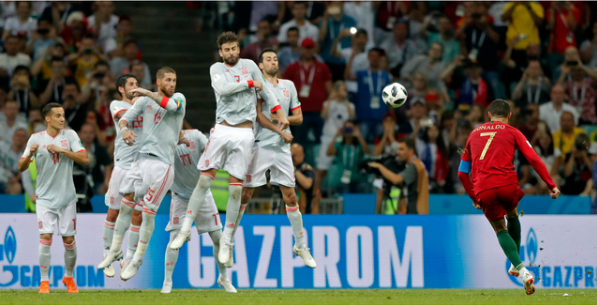 في مقابلة مثيرة: رونالدو ينقذ البرتغال من الهزيمة.. ولعنة الزي الأبيض تلاحق اسبانيا