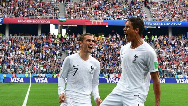 فاران و غريزمان يقودان فرنسا الى المربع الذهبي لمونديال روسيا 2018