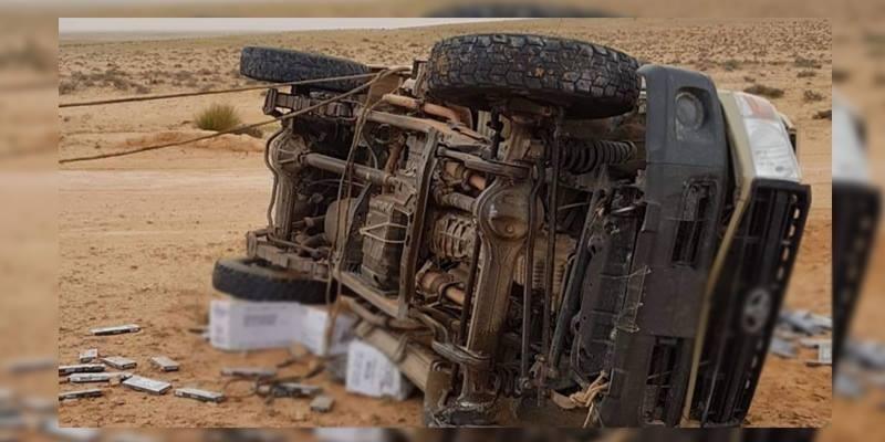 القصرين: وفاة مهرب إثر إنقلاب شاحنته
