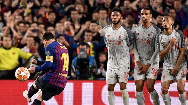 ميسي يقسو على ليفربول ويضع قدم برشلونة بنهائي دوري الأبطال الأوروبية