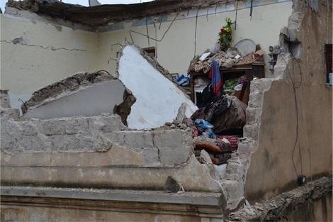 القيروان: وفاة امرأة بعد انهيار جدار أحد المنازل