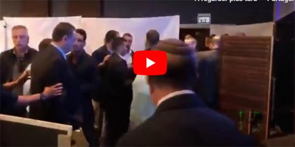 بالفيديو/ لحظة هروب نتنياهو من قاعة في أسدود عقب تعرضها لقصف فلسطيني