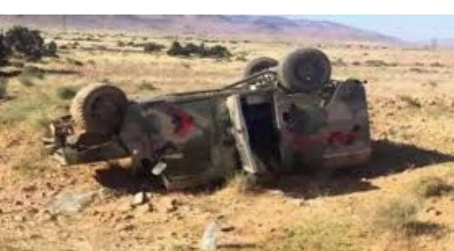 توزر: وفاة عسكري وإصابة 3 آخرين في حادث مرور