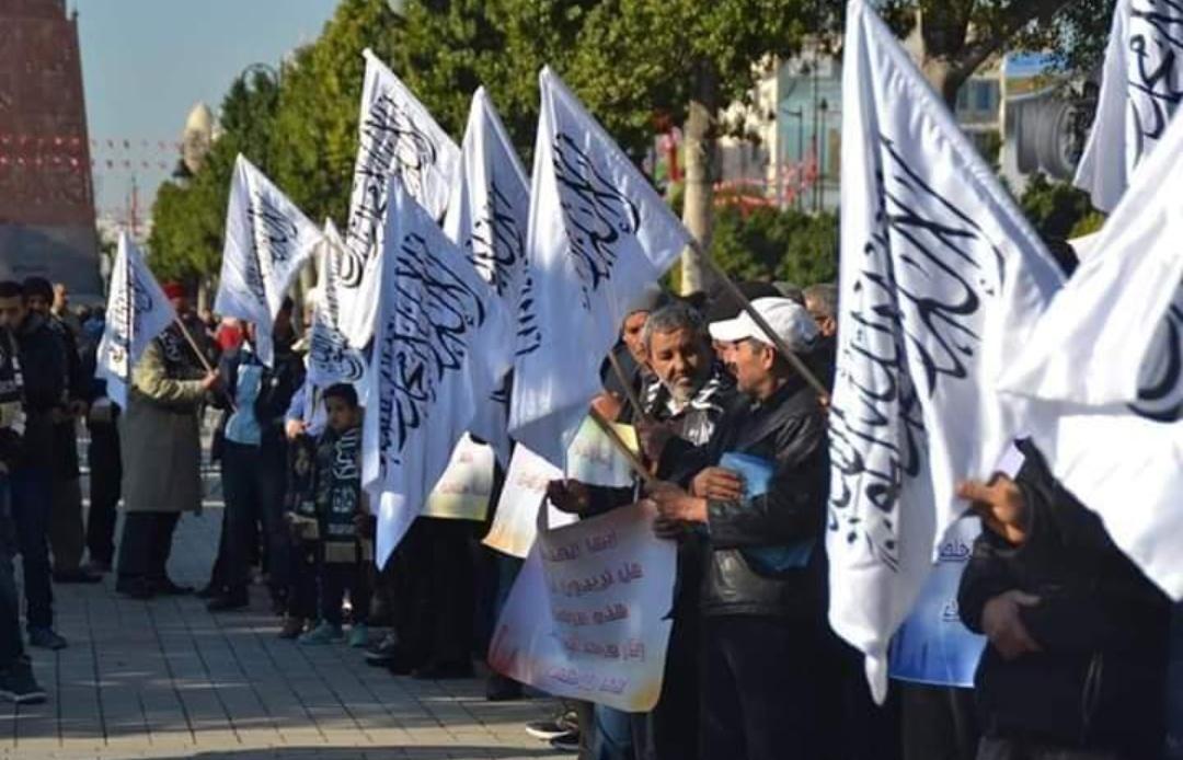 (صور) : أنصار حزب التحرير يطالبون بتفعيل نظام