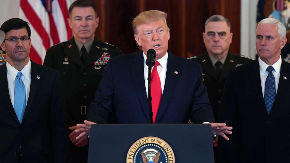 ترامب يؤكد عدم اصابة أي جندي أمريكي في الضربات الصاروخية الايرانية