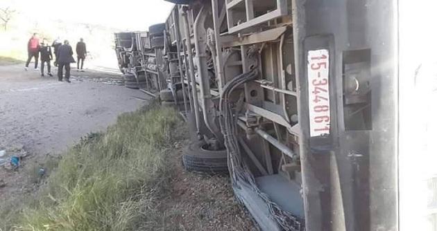 انقلاب حافلة تابعة للشركة الجهويّة للنقل بصفاقس.. التفاصيل