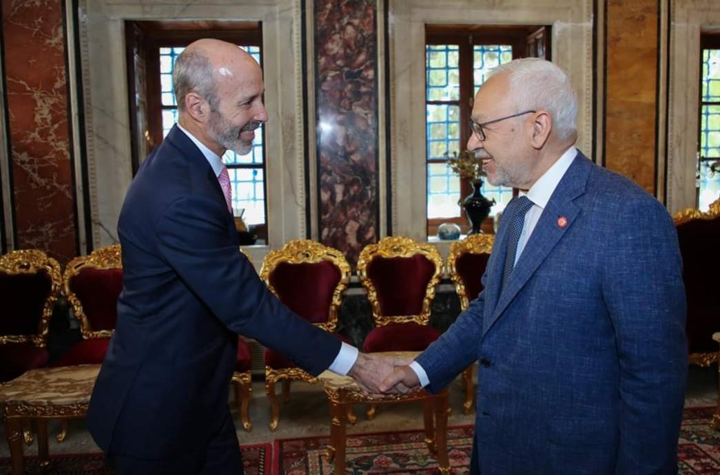الغنوشي للسفير الأمريكي : ''التونسيون غاضبون بسبب صفقة القرن''