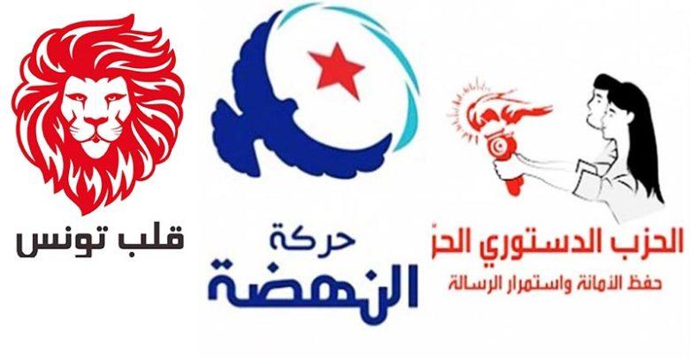 نوايا التصويت للأحزاب: قلب تونس في الصدارة ثم النهضة فالدستوري الحرّ