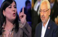 عبير موسي: اذا لم يستجب الغنوشي لمطالبي ساقيه ماعادش يحطها في مكتب البرلمان!!