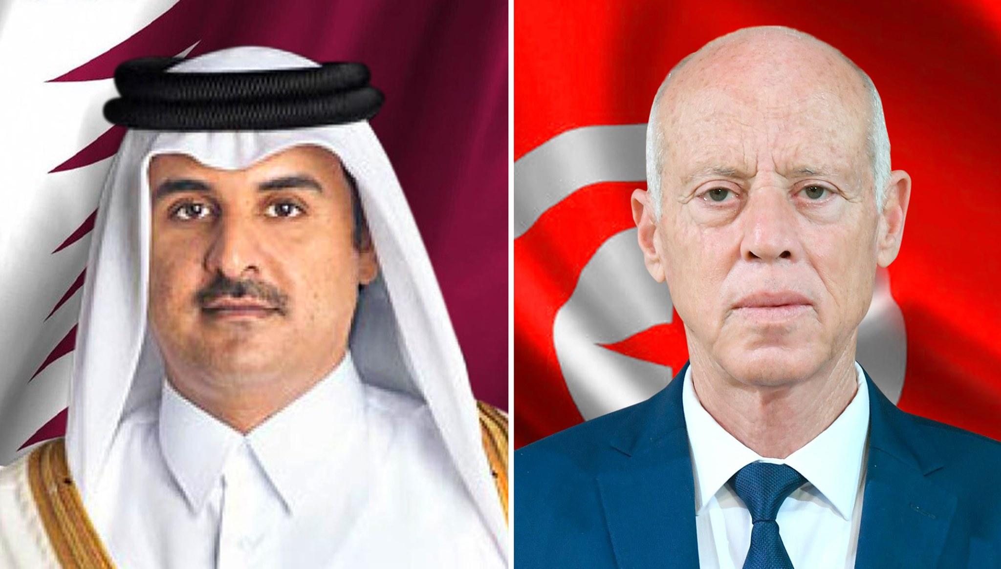 قيس سعيد والأمير تميم يؤكدان عمق ومتانة العلاقات التونسية القطرية