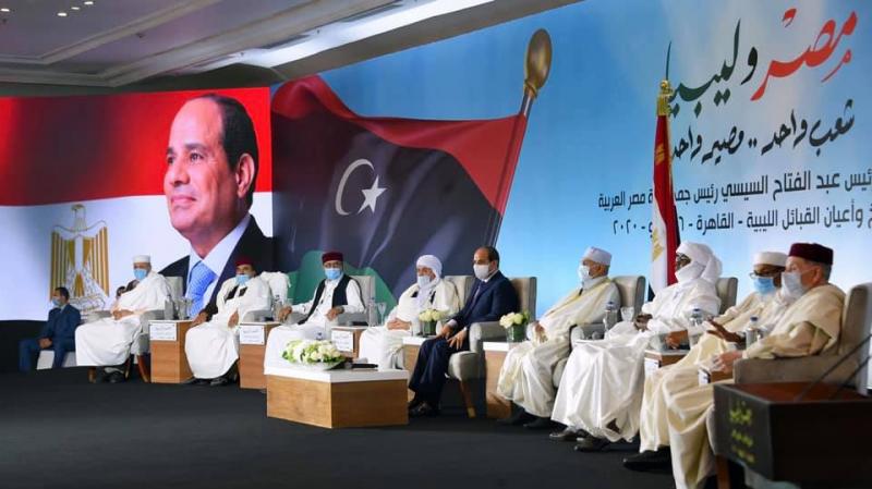 السيسي: لن نقف مكتوفي الأيادي تجاه أي تحرك يهدّد أمن مصر وليبيا