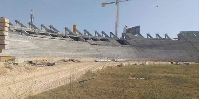 بسبب عدم خلاص مستحقات مهندس المشروع.... ايقاف أشغال توسعة الملعب الأولمبي بسوسة