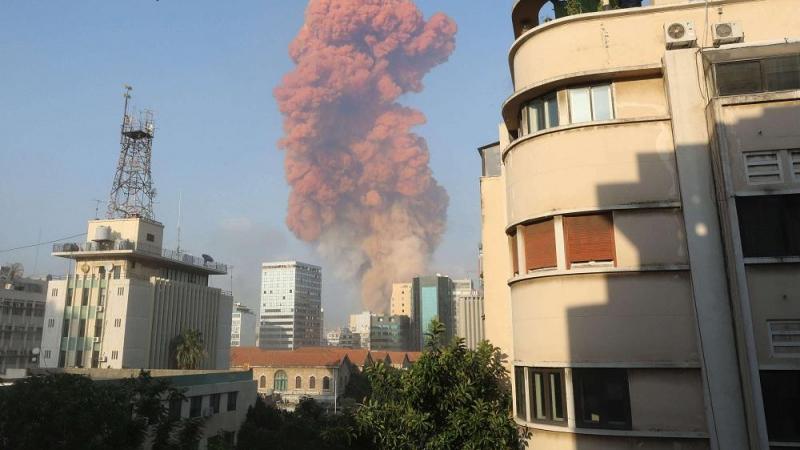 بالفيديو/ انفجار عنيف يهزّ العاصمة اللّبنانيّة بيروت..