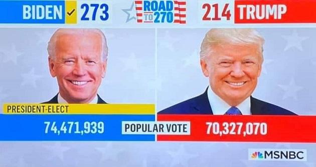 عاجل/ جو بايدن رئيسا جديدا للولايات المتّحدة الأمريكيّة