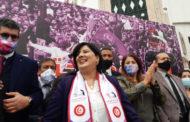 في أجواء تجمعية: عبير موسي تؤكد لأنصارها عزم حزبها على ازاحة حركة النهضة !!
