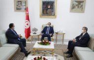 تعزيز علاقات التعاون الثنائي محور لقاء رئيس الحكومة بسفير دولة قطر بتونس