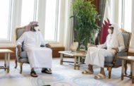 في أول زيارة لمسؤول اماراتي للدوحة بعد المصالحة: طحنون بن زايد يلتقي أمير دولة قطر