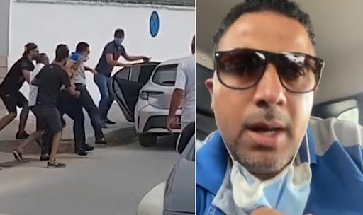 بالفيديو: شاهد عملية  اعتقال سيف الدين مخلوف والاعتداء عليه أمام المحكمة العسكرية من زوايا متعددة!!