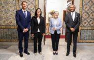 بالصور: رئيسة الحكومة تستقبل أنس جابر