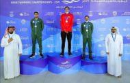 السباح التونسي أيوب الحفناوي يتوج بذهبية البطولة العربية